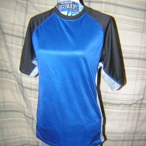 Royal Blue Black Avia WOrkout SS Tee